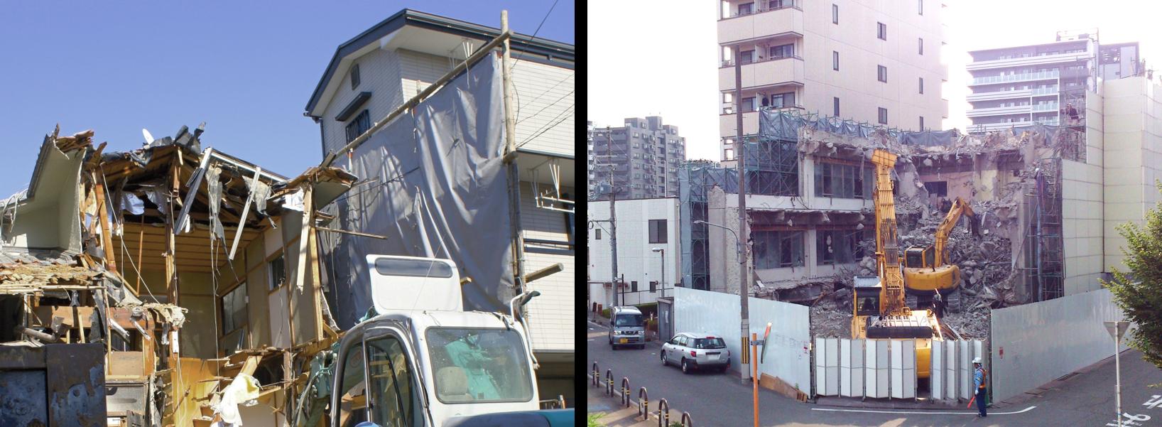 住宅・住居・事務所の解体工事